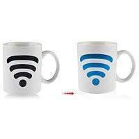 Керамическая сигнал WiFi контроль температуры кружка изменение цвета чашка керамическая чашка