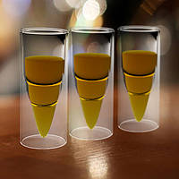 2шт двойной слой стекла чашки пуля ясно ракеты пиво кофе кружка Кубок