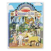 """Объемные многоразовые наклейки """"Клуб верховой езды"""" /Puffy Sticker Activity Book - Riding Club ТМ Melissa & Doug MD19410"""