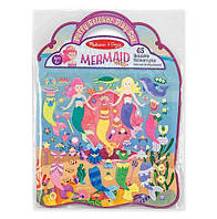 "Объемные многоразовые наклейки ""Русалки"" / Mermaid (4 картинки + 65 многоразовых наклеек) ТМ Melissa & Doug MD19413, фото 1"