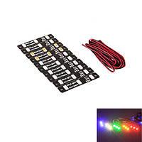 10X Multicolor LED Световые люминесцентные лампы для RC Дрон FPV Racing