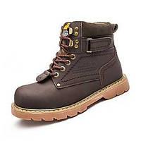 Для мужчин Ботинки Удобная обувь Зимние сапоги Модная обувь Армейские ботинки Натуральная кожа Оксфорд Кожа Полиуретан Весна Осень 06083213