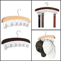 Многофункциональный ремень лиственных галстук крышка вешалка с 12pcs хромированной крючок крючок шкаф