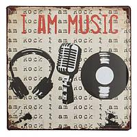 Музыка олова, войдите старинные металлические бляшки декор плакат паб в стены дома