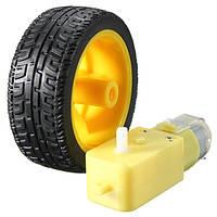 Пластиковые колеса шина с постоянного 3-6v мотор-редуктора для Arduino шикарной машине