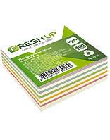 Блок бумаги для заметок 85х85мм 400 л клееный микс Fresh Up