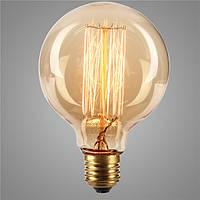 E27 40w G95 19 якоря старинные антикварные Эдисон стиль углерода filamnet прозрачное стекло лампы 110 / 220В