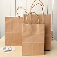 Коричневый крафт бумажный мешок мешки бумажной несущей recyclable бумажный мешок торговых мешки подарка партии