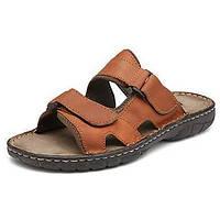 -Для мужчин-Для прогулок Повседневный-Наппа Leather-На плоской подошве-Удобная обувь-Тапочки и Шлепанцы 05109839