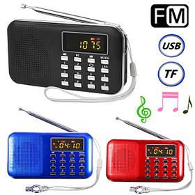 Портативный мини ЖК-цифровой FM-радио динамик USB микро-SD TF карт mp3 музыкальный плеер