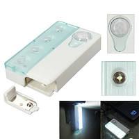 4 LED PIR инфракрасный ИК беспроводной автоматической детектор движения и датчик света лампы