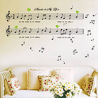 Черная музыка Примечание съемная наклейка дома комнаты декор стены искусства наклейки обоев