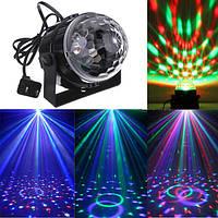 Мини RGB LED партия дискотека DJ Light кристалл магический шар эффект освещение этапа