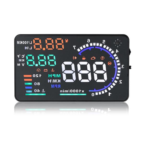 A8 5.5дюймовый автомобилей HUD Head Up Display с OBD2 интерфейс Разъем-1TopShop