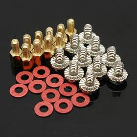 10x 6.5 мм латунь противостояние 6-32 - м3 корпус ПК системной платы стояка винты шайбы 1TopShop
