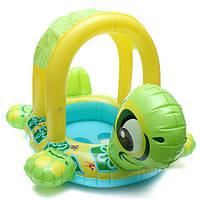 Детские детские формы черепахи надувной бассейн поплавок сиденье лодки водой плавать кольцо