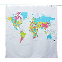 180*180см карта мира шаблон водонепроницаемый полиэстер душ занавес