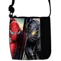 Черная сумка для мальчика Little prince с принтом Человек Паук