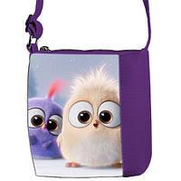 Фиолетовая сумка для девочки Маленькая Принцесса с принтом Птички