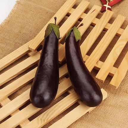 5шт искусственные пены баклажаны имитация овощи домой обучения реквизит украшения, фото 2