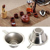 Нержавеющая сталь двухслойный ситечко для чая фильтр тонкой сеткой чайная ложка фильтр