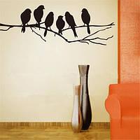 Съемные птицы ветке дерева наклейки Home Art наклейки сделай сам живой декор комнаты