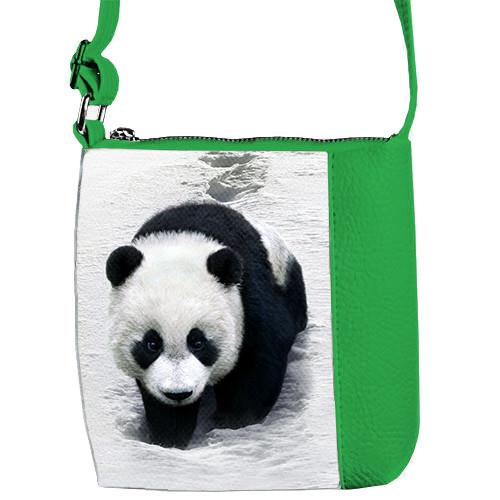 Зеленая детская сумка Little Princess с принтом Панда