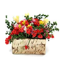 Мини-завод декоративные ручной глины цветок лилии балкон желтый в помещении домашнего декора