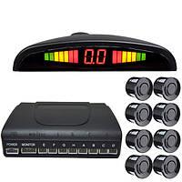 8 датчиков 12v LED дисплей автомобиля задним ходом парковочный радар зуммера комплект системы датчика система парковки