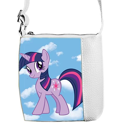 Белая сумочка для девочки Маленькая принцесса с принтом Литл пони