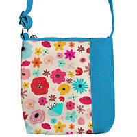 Голубая сумочка для девочки Цветник