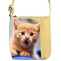 Сумочка для девочки с принтом Рыжий котенок