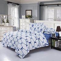 3 или 4шт полиэфирного волокна Голубой Белый Лабиринт Printed Двухсторонней использование постельного белья