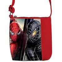 Красная сумочка для мальчика Little prince с принтом Человек Паук