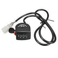 24/36/48v электронной велосипедов кнопку двигатель электрический автомобиль дроссельной заслонки 3 LED Индикатор дисплей переключатель