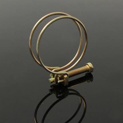 Регулируемый двойной провод воды газовый шланг зажим трубы зажим обруча водопроводу, фото 2
