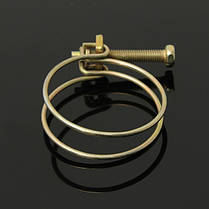 Регулируемый двойной провод воды газовый шланг зажим трубы зажим обруча водопроводу, фото 3
