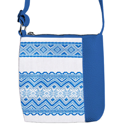 Синня сумочка для девочки с принтом Вышиванка