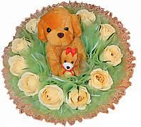 Собачки в розах