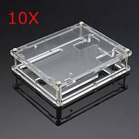 10шт прозрачные акриловые раковины коробка для Arduino ООН R3 Совета модуль
