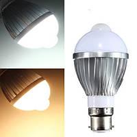 B22 5W 12 SMD 5730 инфракрасный датчик тела индукционные лампы теплый белый/белый 85-265