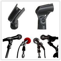 Черный гибкий микрофон микрофон аксессуар стенд пластиковый зажим клип держатель