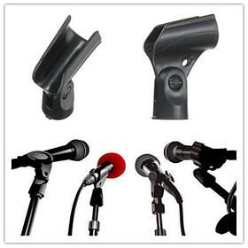 Черный гибкий микрофон микрофон аксессуар стенд пластиковый зажим клип держатель 1TopShop