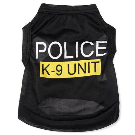 Мода полицейского подразделения к-9 щенков собак футболки питомца летняя одежда одежда костюмы, фото 2