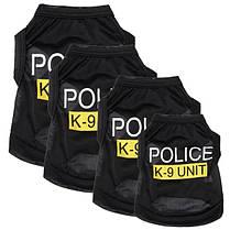 Мода полицейского подразделения к-9 щенков собак футболки питомца летняя одежда одежда костюмы, фото 3