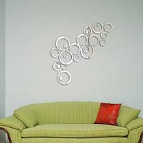 24pcs круг наклейки 3D DIY домашнего декора ТВ стикер стены украшения стены зеркало, фото 3