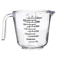 300мл ясный пластичный измерения выпечки чашки ручка носик контейнера