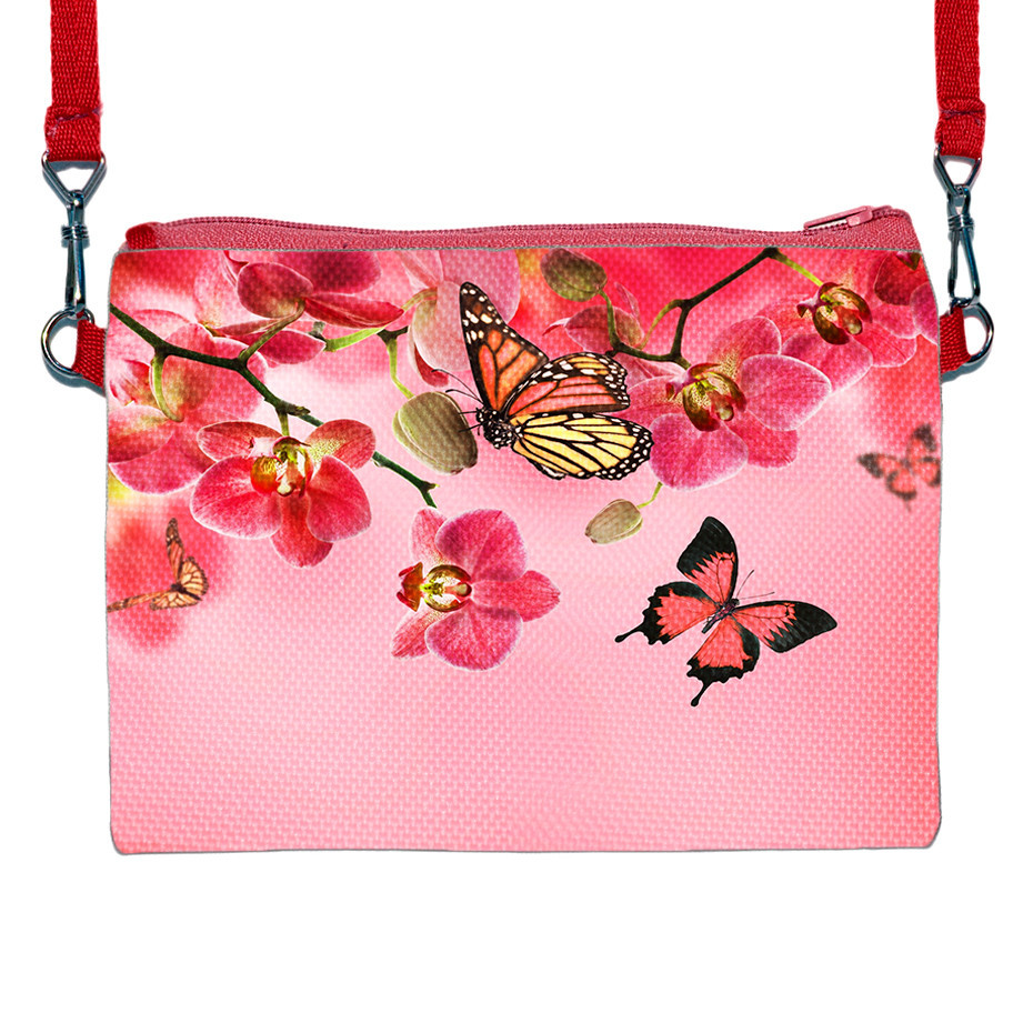 Детская сумочка для девочки с принтом Орхидея