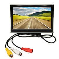 5-дюймовый ЖК-монитор зеркало и беспроводной ИК заднего вида обратной резервного копирования автомобиль комплект камеры
