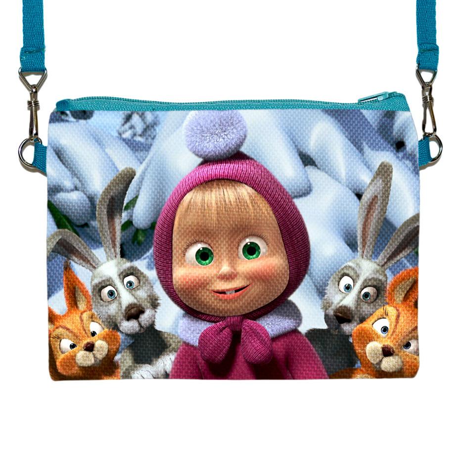 Детская сумочка для девочки с принтом Маша и медведь